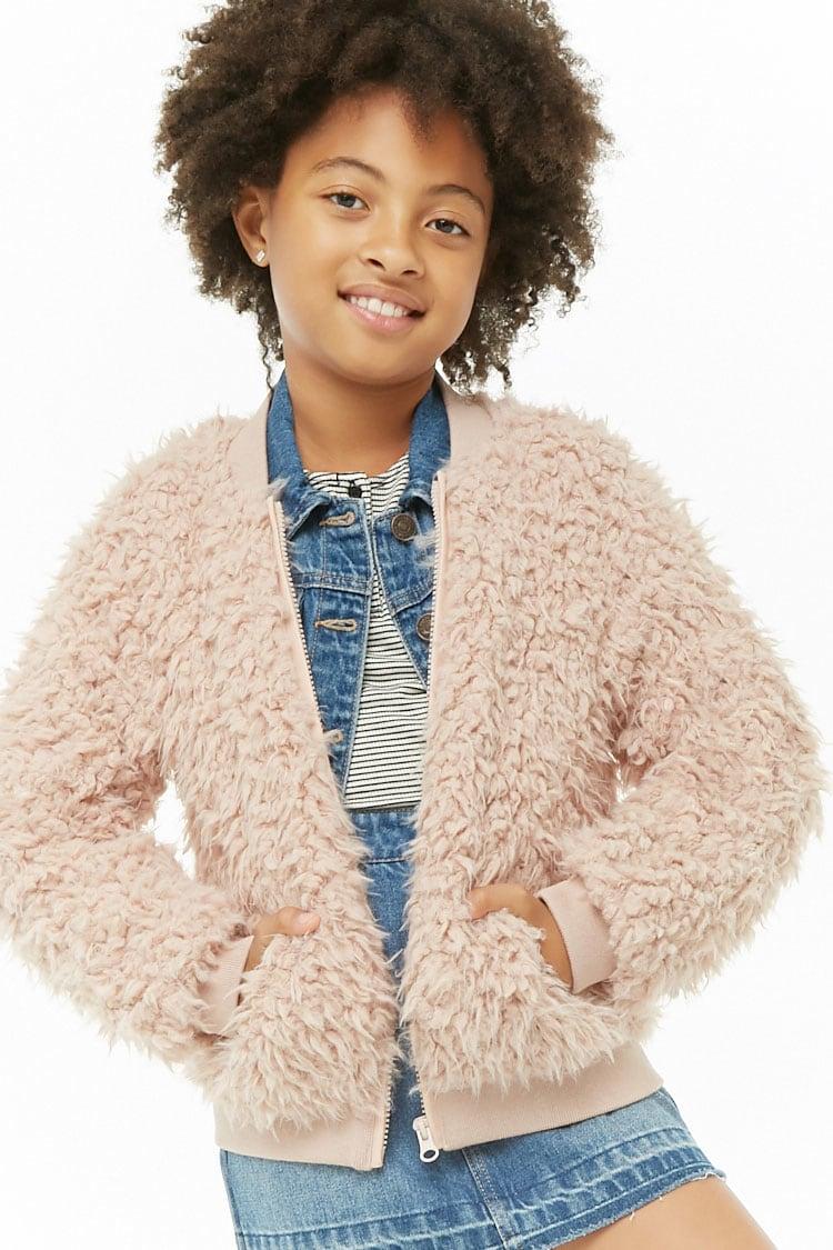 641225293b96 Girls Shaggy Faux Fur Jacket (Kids) 5/6 - Locolow