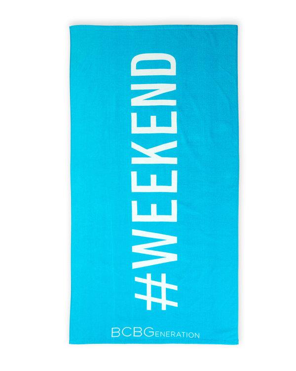 Beach Towel Hashtags: BCBGENERATION Hashtag Weekend Beach Towel