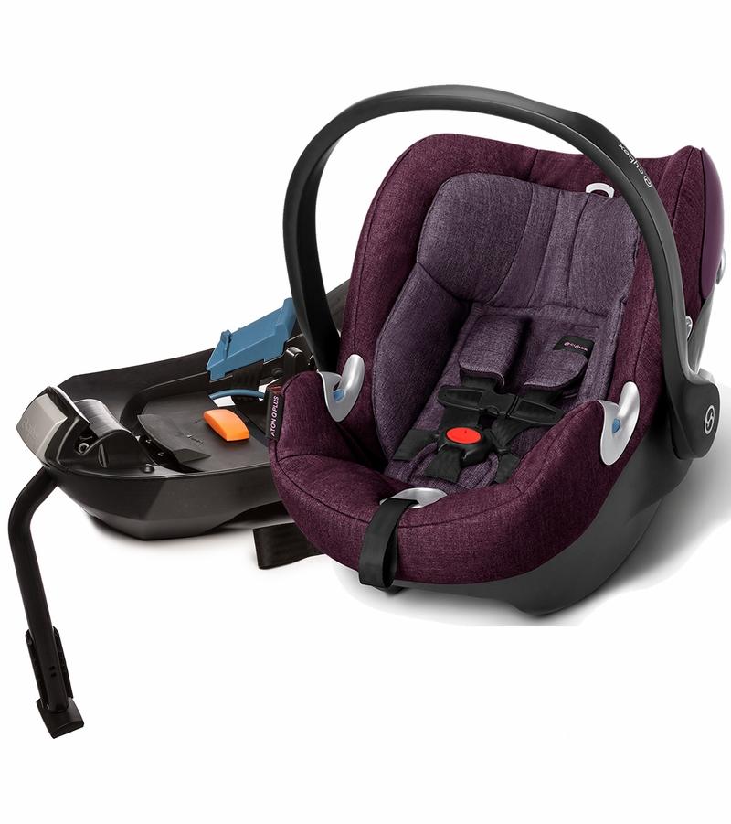 Cybex Aton Q Plus Infant Car Seat 2015 Grape Juice Locolow