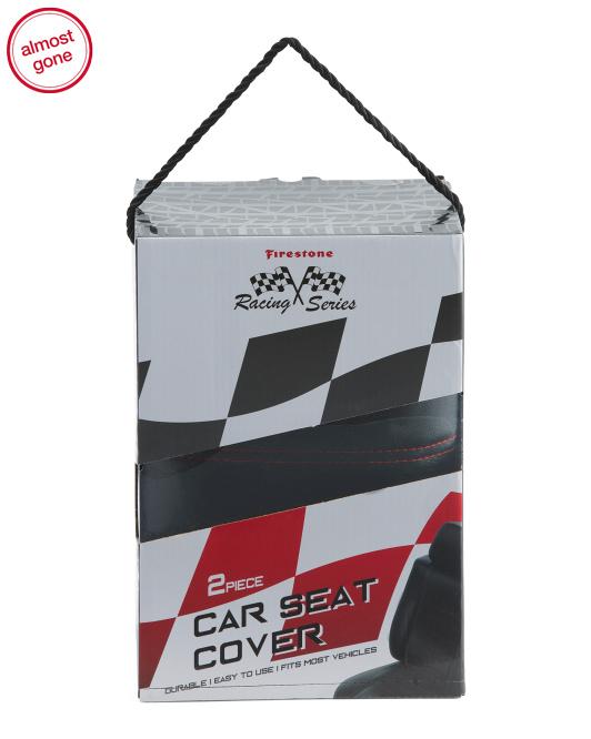 Pleasant Firestone 2Pk Faux Leather Car Seat Covers Pabps2019 Chair Design Images Pabps2019Com