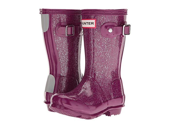 Hunter Kids Glitter Finish Rain Boots Toddler